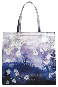 Ted Baker White Purple Tote in Blue Multi