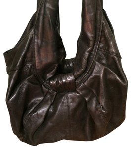 Kooba Leather Metallic Hobo Bag