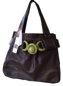 Orla Kiely Tote in Dark Brown