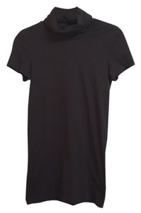 Theory Short Sleeve Stretchy Fitted Slim Fit T Shirt Brown