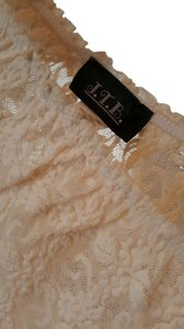 JTB Sheer Lace Stretch Top Cream