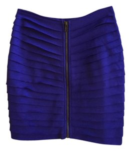 Silence + Noise Zip Bodycon Mini Skirt Cobalt Blue