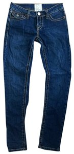 LA Idol Stretchy Casual Skinny Jeans-Dark Rinse
