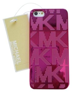 Michael Kors Michael Kors Rose Pink Plated MK Letters iPhone 5 5S Case Cover