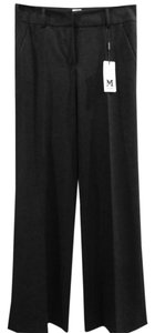 Missoni Wool Straight Wide Wide Leg Pants Black