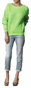Kenzo Knit Neon Bright Chunky Knit Sweater