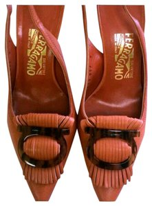 Salvatore Ferragamo Burnt Orange Sandals