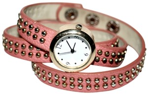 Charlotte Russe Charlotte Russe Coral Studded Wrap Watch