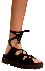 Cline Gladiator Suede black Sandals