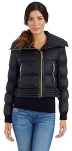 Betsey Johnson Puffer Coat Puffer Black Jacket