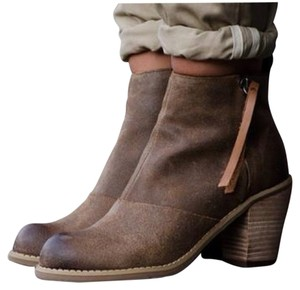 Dolce Vita Joust Ankle Suede Smog Brown Boots