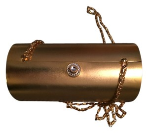 Bloomingdale's Vintage Chic Night Out gold Clutch