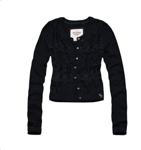 Abercrombie & Fitch Sheer Floral Lace Cardigan