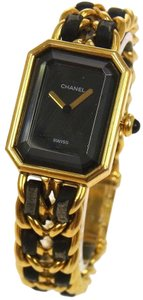 Chanel Authentic CHANEL Vintage Premiere Wristwatch Gold Quartz Swiss Made