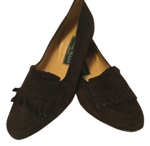 Cole Haan All Leather Tassels Handmade Italian Brown Suede Pumps
