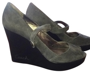 Coach GRAY/BLACK Wedges