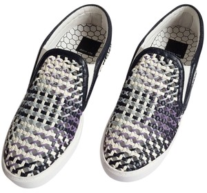 Dolce Vita Slip On Sneaker Leather White Black Purple Powder Blue Athletic