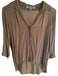 Forever 21 Blush Lace Silk-like Top Blush, nude