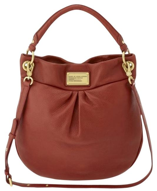 Item - Classic Q Hillier Bright Persimmon Leather Hobo Bag