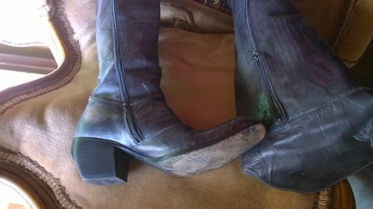 Mark Nason gray over the knee boots Leather dark gray Boots