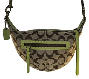 Coach Canvas Strap Cross Body Bag