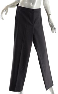 Chanel Double Pleat Wool Cashmere Trouser Pants Black