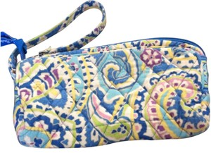 Vera Bradley Wristlet in Blue Flowered