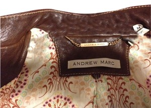 Andrew Marc Cognac Brown Leather Jacket
