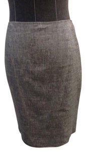 Elie Tahari Pencil Size 2 Wool Skirt Black and White
