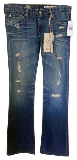 Item - Distressed Angel Boot Cut Jeans Size 28 (4, S)