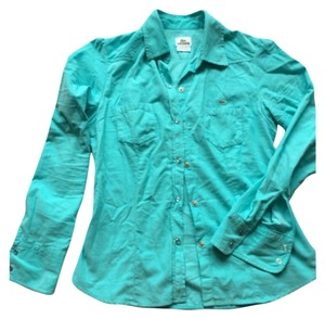 Lacoste Button Down Shirt Light teal