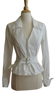 Anne Fontaine French Cuff Button Down Shirt white