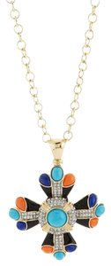 Kenneth Jay Lane Kenneth Jay Lane Cross Pendent Necklace