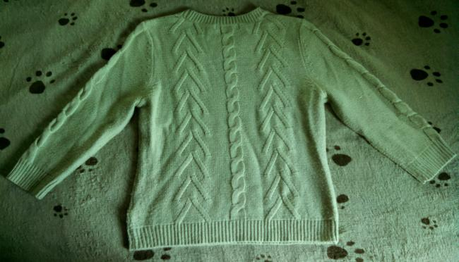 Forever 21 Medium Knit Woven Ribbed Sweater