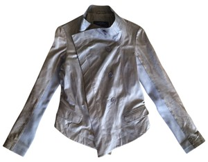 AllSaints Leather Brown Leather Jacket