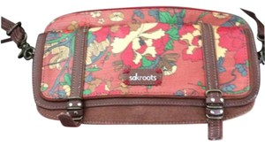 Sakroots Maroon And Rust Messenger Bag