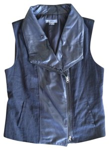 Vince Leather Sleeveless Vest