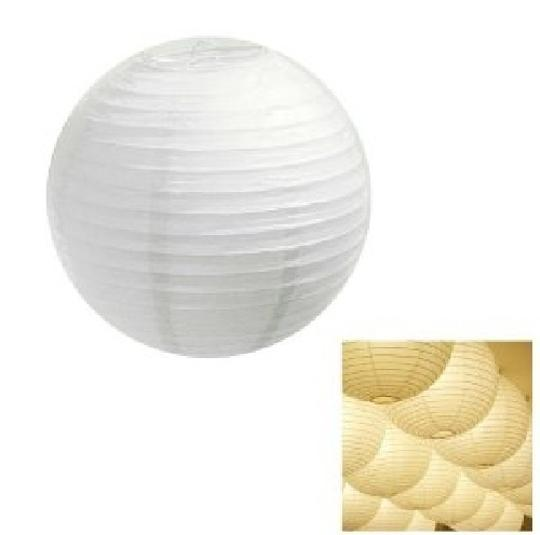 """White - 40 Pieces Mix Sizes 6"""" 8"""" 10"""" 12"""" Chinese Round Sky Paper Lanterns Lamp Birthday Party Ceremony Decorations"""