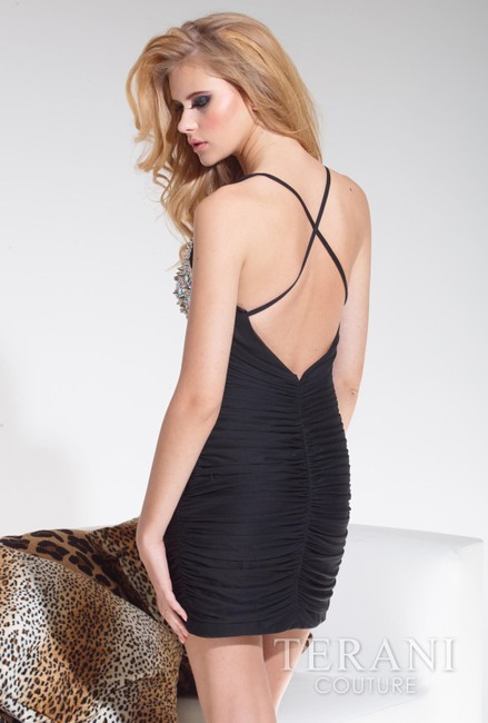 Terani Couture Homecoming Party Spaghetti Straps Dress