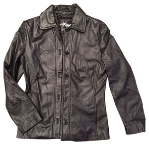 Wilsons Leather Coat black Leather Jacket