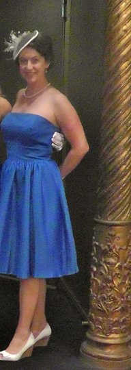 B2 Solid Royal Blue Polyester Jasmine Formal Bridesmaid/Mob Dress Size 6 (S)
