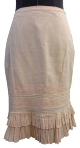 Odelle Cotton Linen Skirt peach / pink
