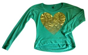 Modern Lux Hi Lo Soft Gold Heart Sweater