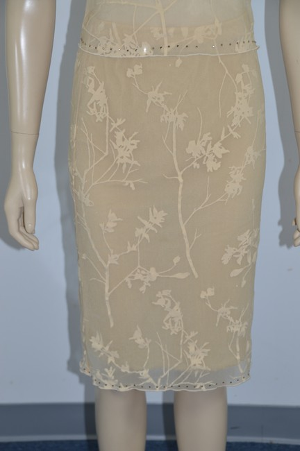 Parallel PARALLEL Sheer Chiffon Top & Skirt Light Yellow/Beige Size XS ss