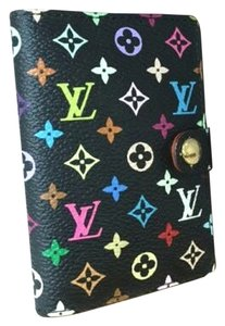 Louis Vuitton Mint Authentic Louis Vuitton Multicolore Monogram Noir Mini Agenda Cover