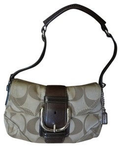 Coach Signature Leather Monogram Shoulder Bag