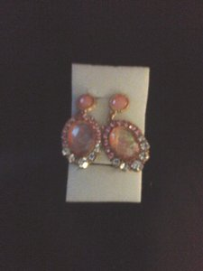 Macy's Macy's blingy pink teardrop earrings