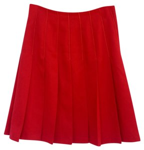 Irene Van Ryb Vintage Pleated Paris France Skirt Red
