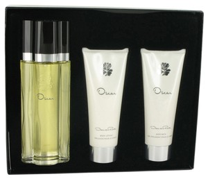 Oscar de la Renta OSCAR ~ Gift Set -- 3.4 oz EDT Spray + 3.4 oz Body Lotion + 3.4 oz ...