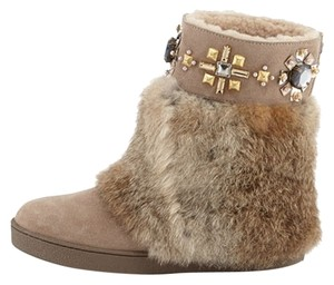 Tory Burch Curran Embellished LIGHT BROWN Boots